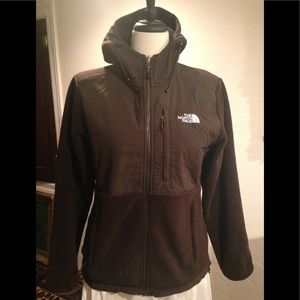 The North Face fleece hooded sweater jacket M